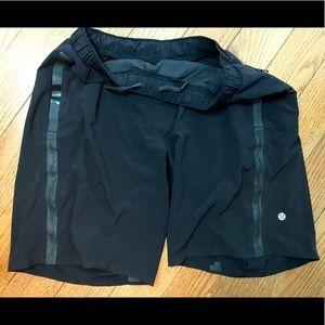 Lululemon athletica men black shorts